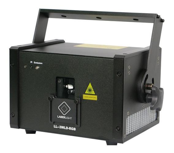 Laser Show 3w Rgb Pro Diodo Puro Potencia Real Grafico, Case