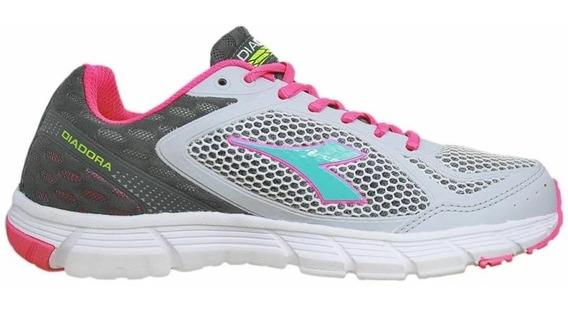 Tenis Diadora 125509 Fly Silver/pink E Royal/navy