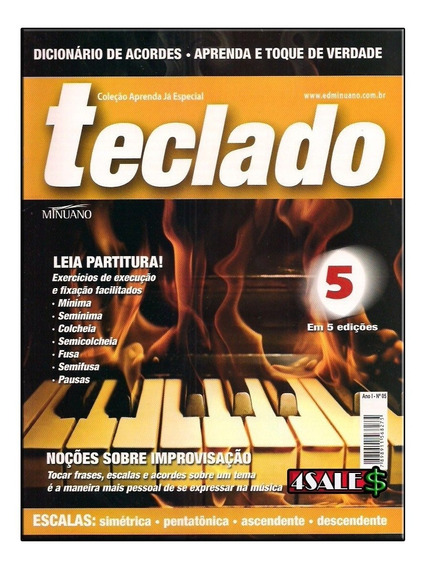 Revista Curso Teclado Ed.05 - Partitura Escala Acordes