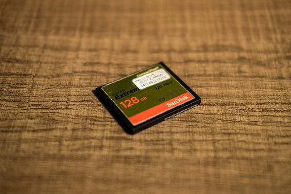 Cartão Memória Sandisk 128gb Compact Flash Extreme 120 Mb/s