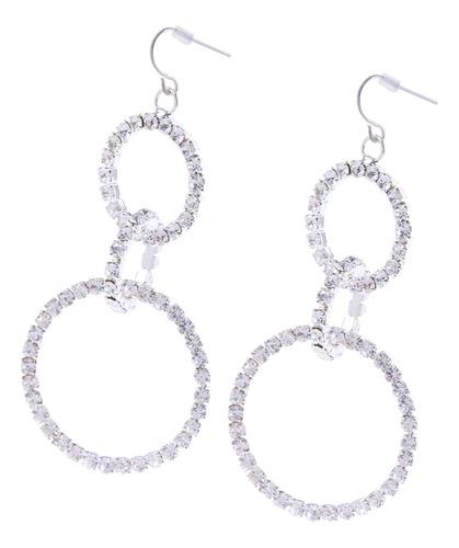 Festa De Noiva Delicado Strass Prata Cristal Três-anel