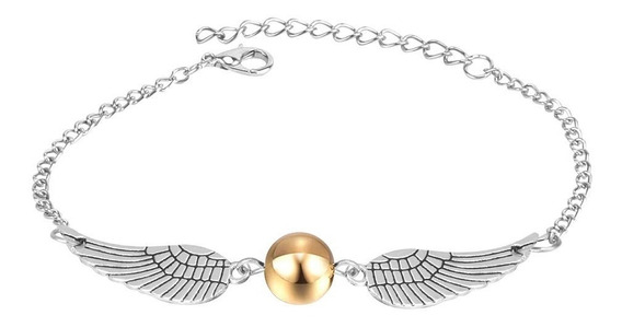 Harry Potter Snitch Pulsera Dorada Plata Quidditch