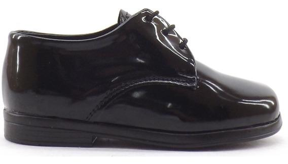 Zapatos Acordonado Charol Nene Niño Vestir Promocion Bauti