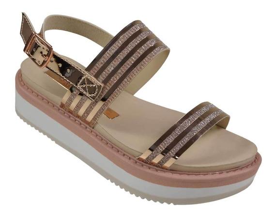 Sandália Flatform Molekinha 2303- 318 Glamour Lançamento