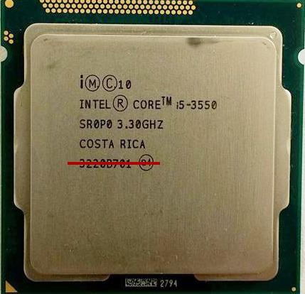 Processador Intel Core I5 3550 + Cooler - Usado