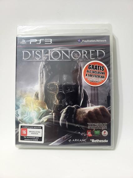 Jogo Dishonored Ps3 Mídia Física Novo Lacrado