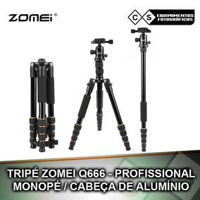 Tripé Zomei Q666 - Profissional - Monopé/ Cabeça De Alumínio