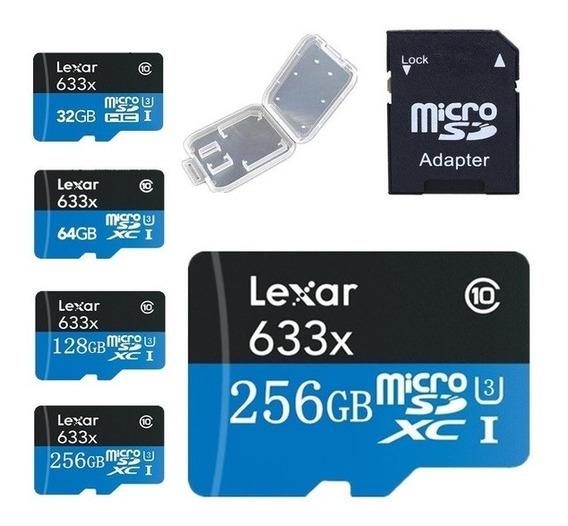 Cartão De Memória Microsdxc Uhs I 4k Lexar 256gb 633x