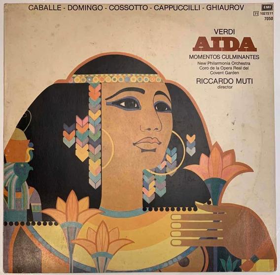 Vinilo Disco De Aida Verdi (ópera) Momentos Culminantes!!