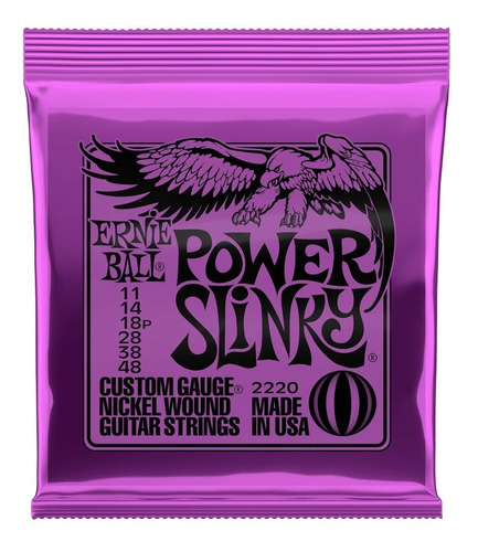Encordoamento Ernie Ball Para Guitarra Power Slink 011