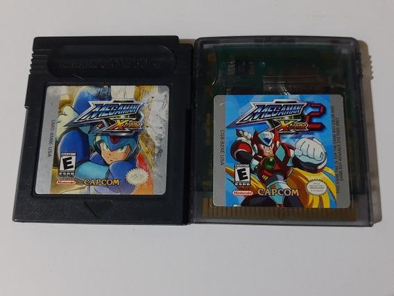 Megaman Xtreme Gbc + Megaman Xtreme 2 Gbc Originais Gravando