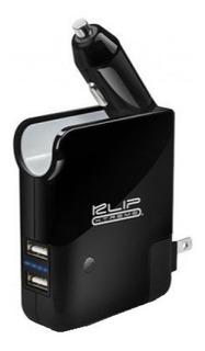 Cargador De Auto Portátil + Batería Power Bank 2500mah