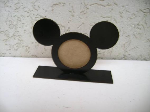 25 Pçs Porta Retrato Mickey P/foto 6 Cm Preto
