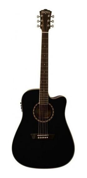 Guitarra Washburn Electroacustica Ad-5ceb Negra Envio Gratis