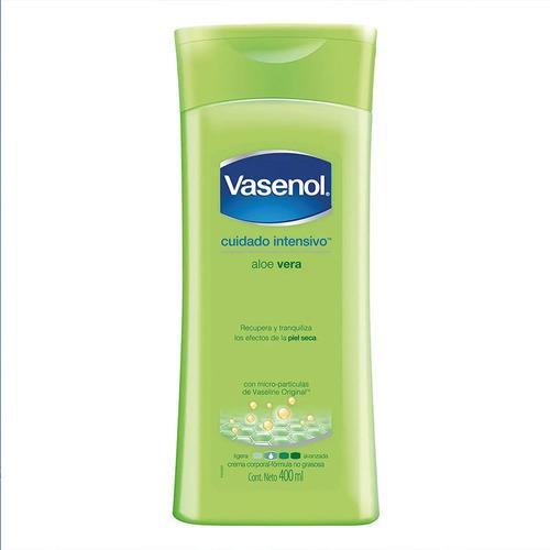 Imagen 1 de 1 de Crema líquida Vasenol Aloe vera en tubo depresible 400ml