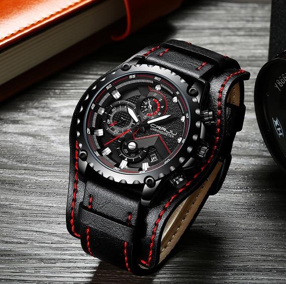 Relógio Masculino Crrju Chronometer Total Black