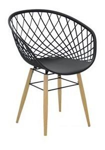 Cadeira Sidera Em Poliamida Pernas Madeira Preta Tramontina