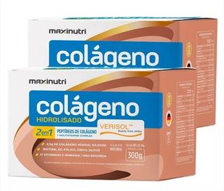 Kit 2 Colágeno Hidrolisado 2em1 Verisol 30 Sachês Maxinutri
