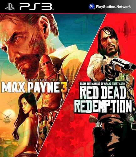 Red Dead Redemption Y Max Payne 3 Ps3 Original - Dgames Uy-