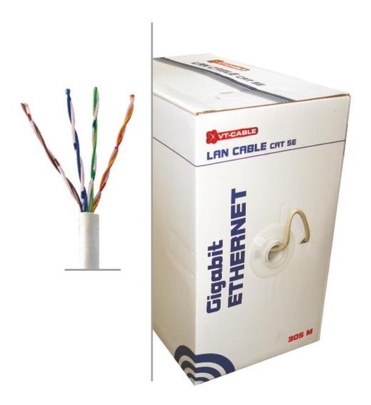 Cable Utp De Red Caja Rollo Bobina Cat5e 305m Excelente