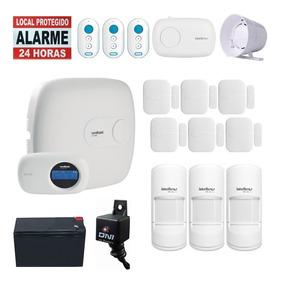 Kit Alarme Intelbras Aplicativo Celular Amt 1016 Net Teclado