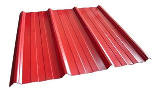 Chapa Trapezoidal Color Roja Teja C25 X Mts Oferta!!!!