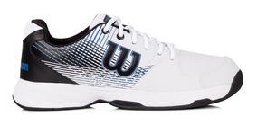 Tênis Wilson Ace Branco Preto E Azul