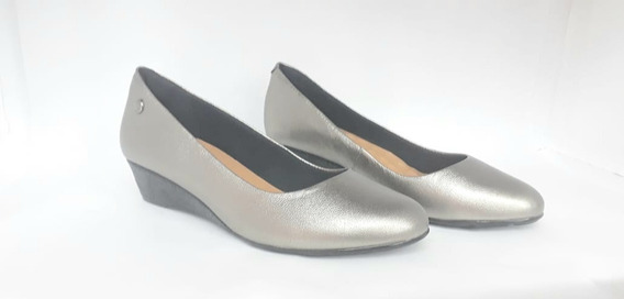 Cavatini Zapato Mujer Taco Chino Clásico Negro Peltre