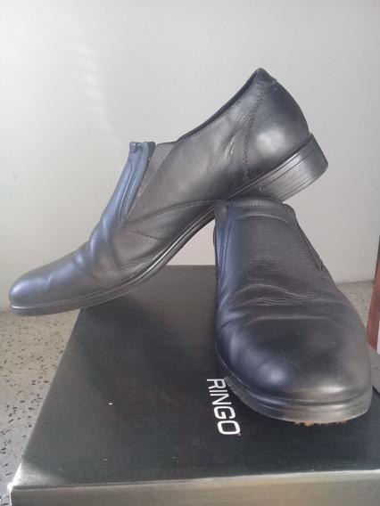 Zapatos Cuero Negro Ringo Jerry 45 Usado