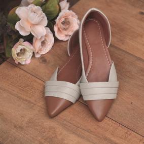 Sapatilha Bico Fino Sapatos Sandálias Rasteirinhas Femininas