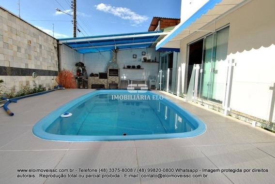 Linda Casa Na Praia De Fora Em Palhoça - 3838