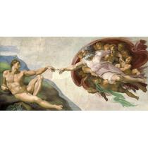 Lamina La Creacion Michelangelo 100x50 Enmarcada