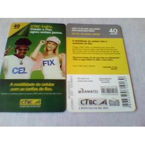 460 - Cartão Ctbc Celfix - 40 Un - Tir. 87.000