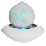 Fonte De Agua Decorativa Cascata Ceramica Luz Led Chafariz