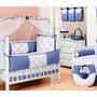 Kit Bebê Enxoval Principe Realeza Coroa Bordado Azul Marinho