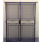 Puerta Reja Abrir Maya Metal Desplegado Para Balcon 150x200