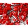 Terminal Tubular (ilhós) Vermelho 1,0mm² 100 Pçs