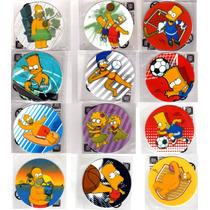 Tazos De Los Simpson 2012: Set Completo 12 Flock Peluche!