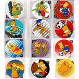 12 Tazos De Los Simpson 2012: Set Completo Flock Peluche