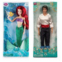 Pequena Sereia Ariel + Principe Eric - Original Disney Store