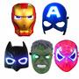 Mascaras Batman Capitan America Iron Man Hulk Con Luz