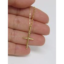 Promoção Corrente Cordão Masculino 70cm + Crucifixo Ouro 18k