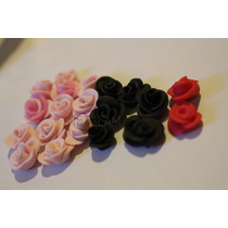 30 Mini Flores Porcelana Fria Todos Los Colores 1cm