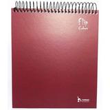 Caderno Para Canhotos Tamoio Flipcolors 10 Matérias Vermelho