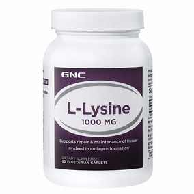 Llysine Lisina Gnc Suplemento 1000 Mg 90 Capsulas Original