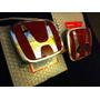 Emblemas Rojos Originales Honda Civic Coupe Ex Si 2011-2013