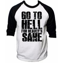 Camisa Raglan 3/4 Bring Me The Horizon Rock Go To Hell Sake