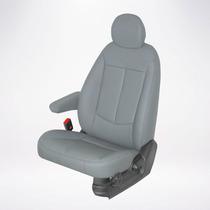 Capas Automotivas De Couro Sintetico Hb20 Cor Cinza Claro