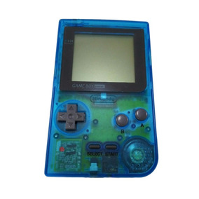 Game Boy Pocket Clear Blue Azul Zero Novo