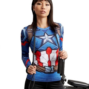 Playera Dama Capitan America Gym